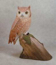 Eastern Screech-Owl Original Wood Carving