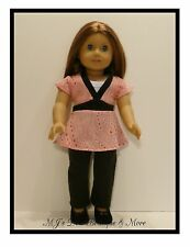 Pink Print Top & Leggings Set fits American Girl Doll
