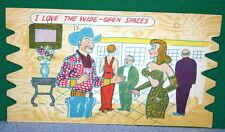 Vintage KOMIK KARD POSTCARD PLAK Comical Post Card - SEXY BUSTY LADY