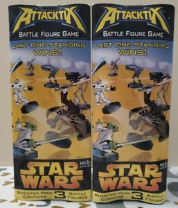 Lot of 2 Star Wars Attacktix Series I 1 3-figure Booster Packs Prequel Trilogy