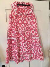 Vintage Women's Pink Komar Leisure Dress Frock Zip Up Sleeveless