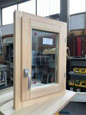 Finestra in legno lamellare grezzo cm L 50 x 70 H battente,levigata,doppio vetro