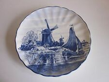 "Delfts Holland Hand painted Wall Plate 9.50"" Blue and white"