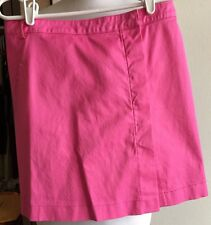 Preppy Akris Punto Short Shocking Pink Cotton Blend Skirt Size 6 Made in Italy