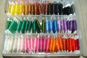 Lot of 50 Skeins Cards Embroidery Floss Thread Assorted Colors