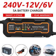 5A Smart Battery Charger 12V/6V Automatic SLA Deep Cycle Motorbike Car AGM AU