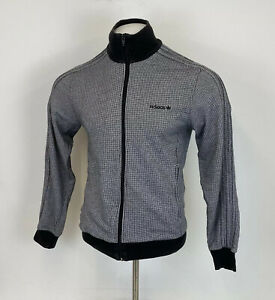 Adidas Materials Of The World Tracksuit Top Jacket Houndstooth Sz Medium Mens