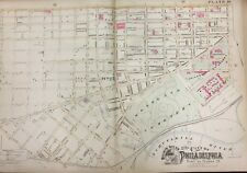 ORIGINAL 1888 UNIVERSITY OF PENNSYLVANIA - WOODLAND CEMETERY PA PLAT ATLAS MAP