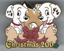 Disney 101 Dalmatians Disney Store Japan Christmas 2004 Pin Dog Bone Glitter Bow