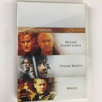 Behind Enemy Lines and Phone Booth and Speed DVD Triple Feature 3 movie set