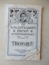1896 - The William Warren Edition Of Standard Plays - Richelieu