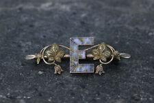 "Beautiful Big California Gold Rush Custom ""E"" Pin with Gold Quartz- 14269"