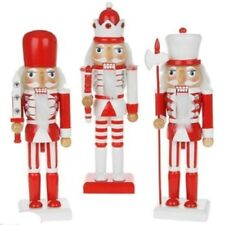 "NUTCRACKER SOLDIER 10""/15"" RED/WHITE RED OR BLACK BOOT COLOUR FINAL LOW STOCK"
