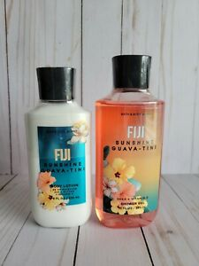 bath and body works fiji sunshine guavatini shower gel and body lotion