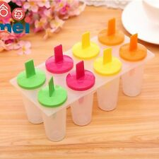 Hot 8 Cell Pop Mold Popsicle Maker Lolly Mould Tray Pan Kitchen Frozen Ice Cream