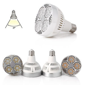 PAR30 35W 45W LED Spotlight E27 E26 Light Bulb White Lamp 27 Degree 110V 220V SS