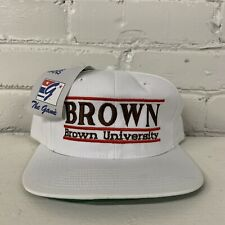Brown University Bears Split Bar Snapback Hat The Game Deadstock NWT Vintage New