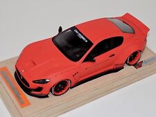 1/18 AB Models Maserati Granturismo Liberty walk Matt, Orange Whls Alcantara B