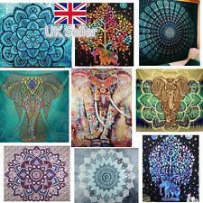 210cm Indian Tapestry Wall Hanging Hippie Elephant Bedspread Throw Bohemia Beach