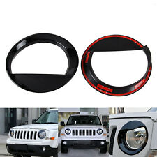 Angry Bird style Front Head Light Lamp Cover Trim for Jeep Patriot 2011-2016