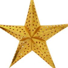 Stern Papierstern Weihnachtsstern Leuchtstern Lampe Papier Faltstern Gold 28