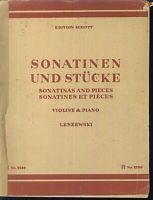 Lenzewski - Sonatinen und Stücke ( Violine und Piano ) Band 1