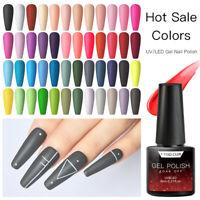 T-TIAO CLUB 2Bottles 6ML Glitter+Colors UV Gel Nail Polish Soak Off Varnish Set