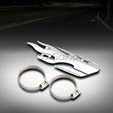 Chrome Flame Exhaust Muffler Heat Shield Cover Guard for Harley Honda Suzuki