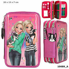 Top Model Friends - Triple Filled Pencil Case GLOSS COVER PINK -French Bull Dogs