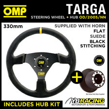 MAZDA MX5 MX-5 MIATA 90- OMP TARGA 330mm SUEDE LEATHER STEERING WHEEL & HUB KIT