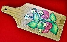 Wooden chopping board decorated with folk Khokhloma painting. Russia, 1989. A3