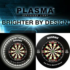 Winmau Blade 5 Dart Board Plasma LED Light Lighting Black Surround FULL SETUP