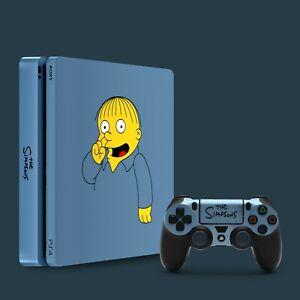 PS4 Slim Vinyl Skin & 2x Controller Skins, The Simpsons Ralph Wiggum Themed.