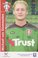 AUTOGRAMMKARTE / AUTOGRAPHCARD Michael van Dommelen FC Dordrecht 2003/2004