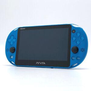 SONY PS Vita PCH-2000 Slim Aqua Blue Wi-Fi LCD FW:3.63 Console only
