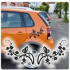 Auto Aufkleber Schmetterling Butterfly Ranke Blumen Sticker Hawaii 2er SET A140