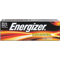 12 Energizer Industrial 9 Volt (9V) Alkaline Batteries (EN22, 6LR61, 1604)