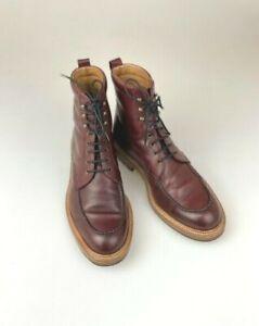 Carmina Shoemaker Jumper Boot Size UK7.5 Llubi 80462 Burgundy Vegano