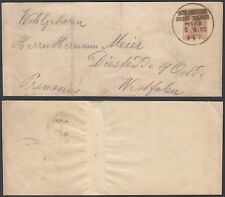 Austria 1892 - Postal stationary on wrapper to Westfalen ......(4G) MV-1080
