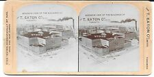 Stereoview Showing a Bird's Eye View of Buildings of T Eaton Co Toronto c1890s
