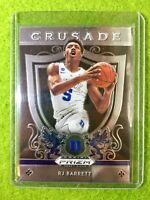 RJ BARRETT PRIZM ROOKIE CARD JERSEY #5 DUKE RC KNICKS  2019 Panini Draft CRUSADE