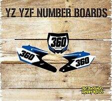 YAMAHA MOTOCROSS GRAPHICS YZ YZF 85 125 250 450 number boards and airbox decals