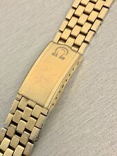 VINTAGE OMEGA GENUINE YELLOW GOLD OVER STAINLESS STEEL WRIST WATCH BRACELET