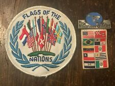 Vintage 1963 BSA Flags of the Nations Patch & Engraved Medal