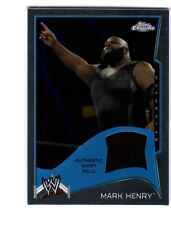 WWE Mark Henry 2014 Topps Chrome Event Used Shirt Relic Card Black