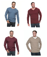 Men's Big & Tall Croft & Barrow Classic-Fit 12GG Long-Sleeve V-Neck Sweaters,NWT