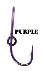 Custom Purple Colored Eagle Claw Fish Hook Hat Pin Purple Fish Hook Tie Clip