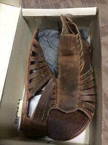 ROAN Womens GLADIATOR SANDALS Size 10 Brown  Pearl Tan Leather