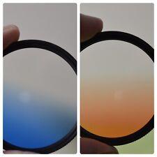 Altura Orange and Blue fade gradient graduated Lenses 52 MM - New