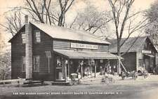 Chatham Center New York Red Wagon Country Store Antique Postcard K51706